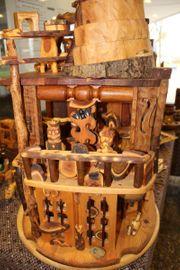 Ausgefallenes Puppenhaus mit Möbel ein