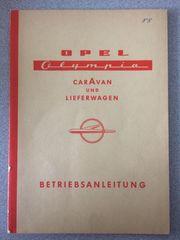 Betriebsanleitung OPEL Olympia CarAvan und