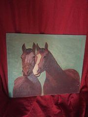 schöne Ölgemälde zwei Pferde