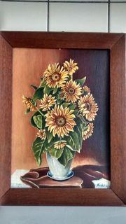 Gemälde Stilleben Blumenstrauß in der