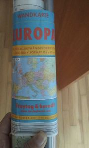 Europa Wandkarte