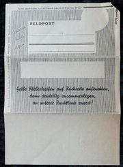 ungelaufener Feldpostbrief Einheits Sparbrief