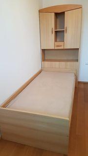 Bett 90x200cm und einen Kasten