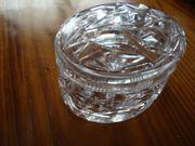 kleine Bleikristall Dose mit Deckel