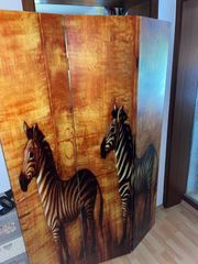 Trennwand in Zebra Look