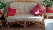 Set 2 Rattan Bambus Sofas