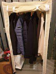 Garderobe - Kleiderschrank mit Stoffhülle auf
