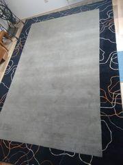 Wohnzimmerteppich Silbergrau