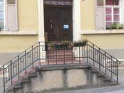 Zweiflügelige Haustür antik von 1847