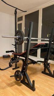 Hantelbank Christopeit zusammenklappbar Fitness Hantel