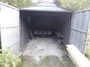 Baucontainer Blechgarage