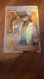 Pokemon Karte Trainer Prof Kukui