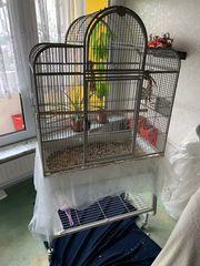 Biete Vogelkäfig groß an 86x49x168cm