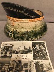 Keramik-Schaffnerhut Linie 6 Dresden