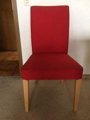 2 schöne rote Stühle Hochlehner