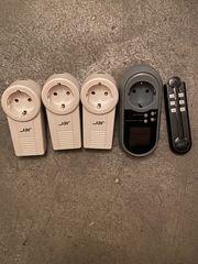3 Funktsteckdosen mit Fernbedienung