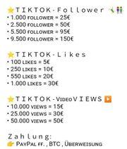 Tiktok Follower Views Likes Instagram