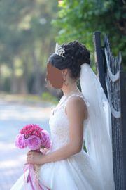 Hochzeitskleid maßgeschneidert Einzelanfertigung wie Neu