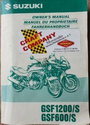 Suzuki GSF1200 Fahrerhandbuch