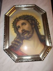 2 Heiligenbilder Jesus Maria ca