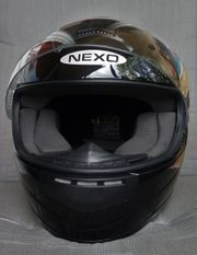Motorradhelm NEXO Gr XS Schwarz