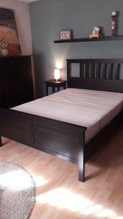 Ikea Hemnes Bett schwarzbraun 140x200