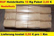 10 Kg RUF Holzbriketts Briketts