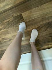 Weiße Sneakersocken - 36