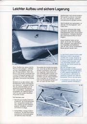 Motorboot-Lagerböcke zerlegbar