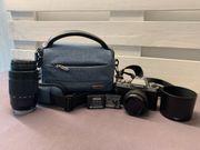 Systemkamera Fujifilm X-T100 mit Objektiven