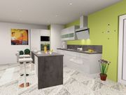 Küche Hochglanz mit Insel