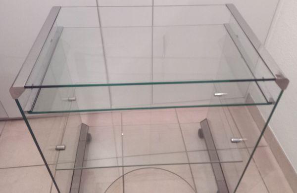 Glas Tisch - Büro - Beistelltisch