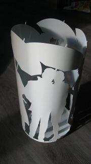 Schirmständer - weiß - Metall