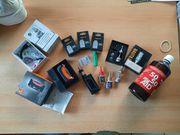E-Zigarette plus Zubehör Konvolut Sammlung