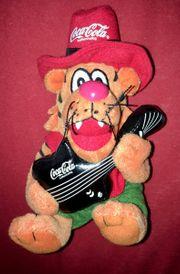 Original Coca Cola Plüschfigur GUITAR