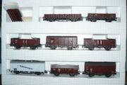 8-teiliges Set Güterwagen von Roco
