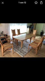 Esstisch 6 Stühle Kommode Minibar