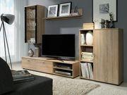 Wohnzimmer - Set Anbauwabd DINO eiche