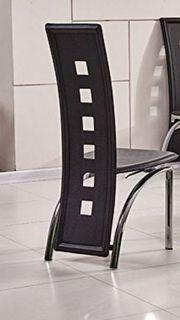 2 stühle schwarz Kunstleder Esszimmer