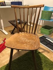 6 Holz Stühle