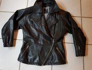 Damen-Lederjacke Motorrad Roller Leder schwarz