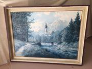 Landschaftsbild Signeirt von Johann Bockmann