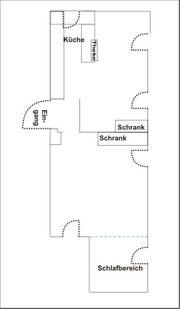 Souterrain 54 m2 zwei Zimmer