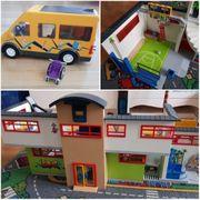Playmobil Grosse Schule Turnhalle Schulbus
