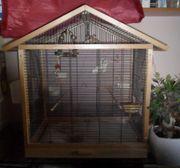 Zebrafinken mit Käfig