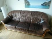 Schöne Couch aus Leder 3-Sitzer-Sofa
