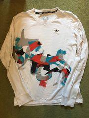 Biete weiß-buntes langarm T-shirt von