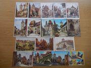 17 Ansichtskarten von Rothenburg ob