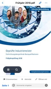 Industriemeister Metall BQ Prüfungen
