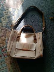 Damenhandtasche v Catwalk - creme - 34x27cm